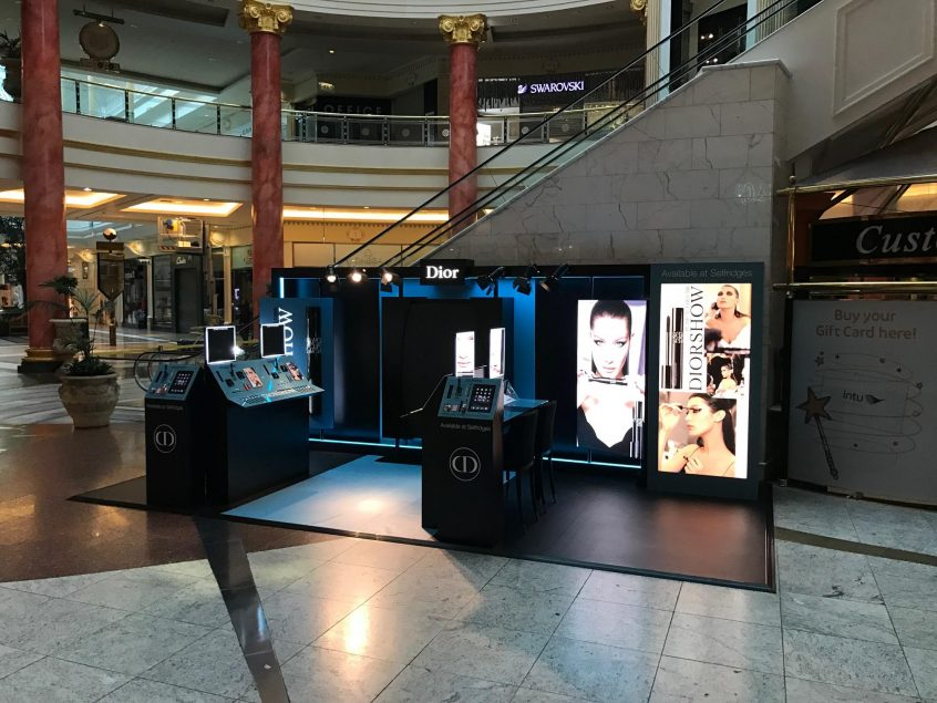 Dior retail display at Selfridges, Trafford Centre