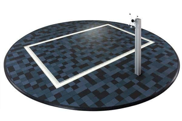 Circular Cableflor exhibition flooring