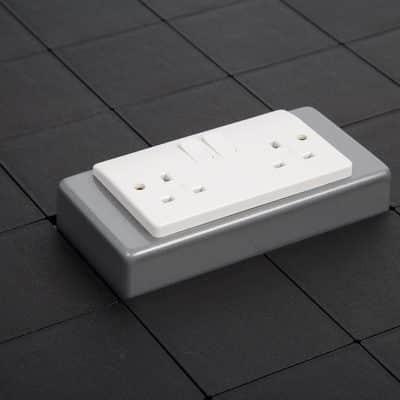 double socket box