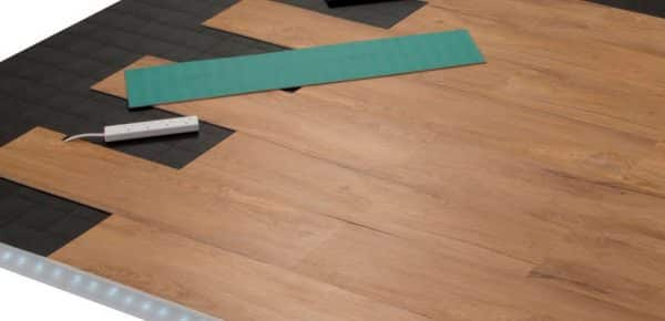 wood floor vinyl for underfloor heating