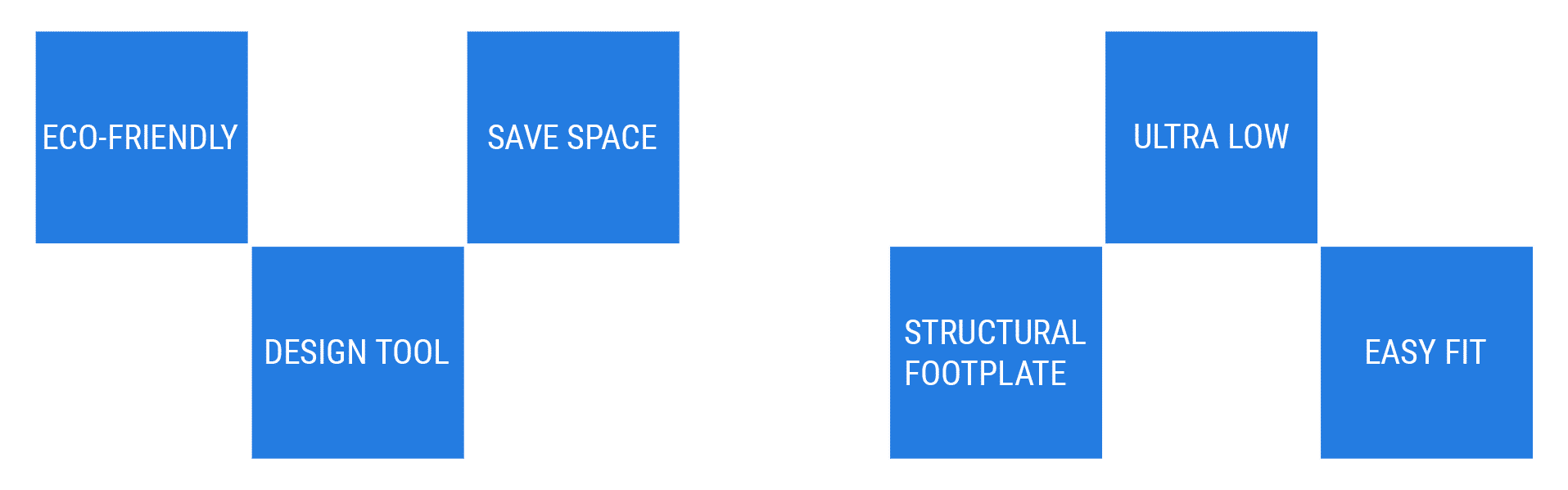 Eco > Design > Save Space > Structural Interface > Adapt > Ultra Low